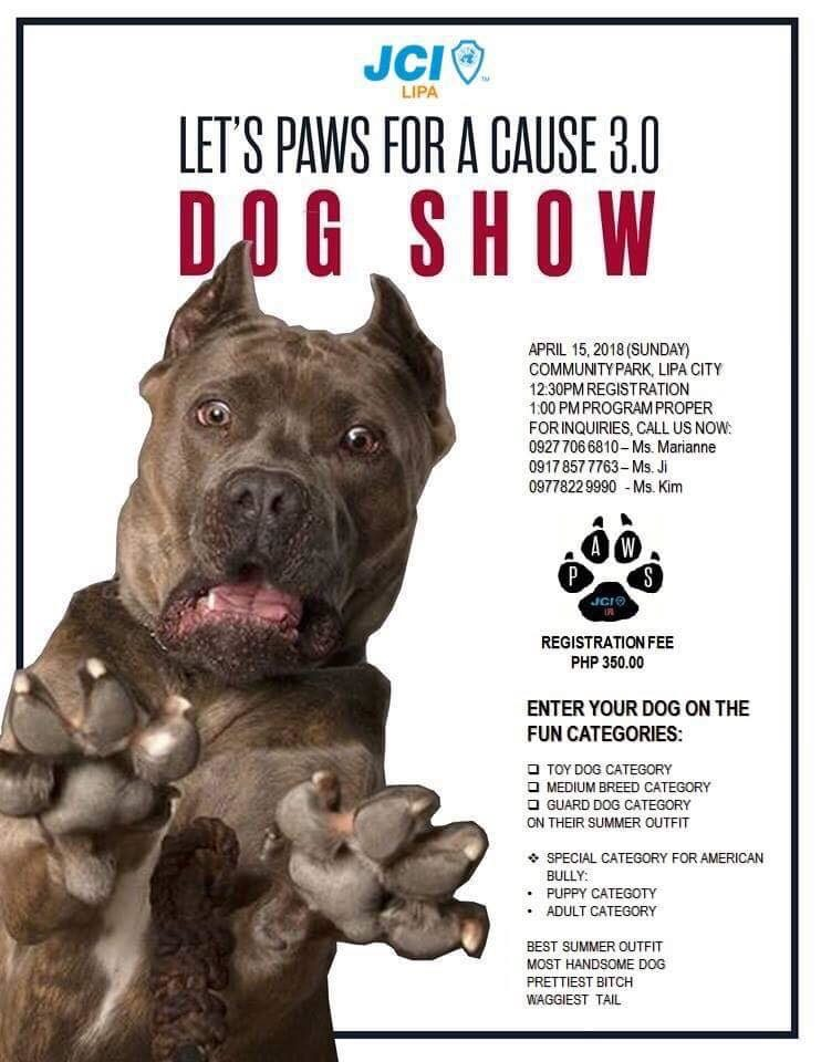 April 15 | Let's Paws for a Cause 3.0 Dog Show