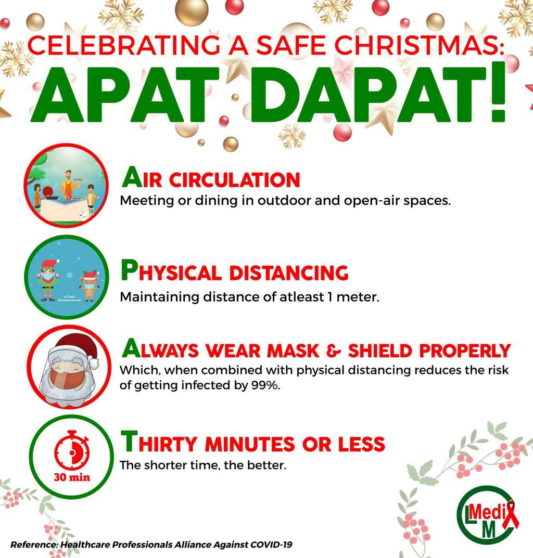 Celebrating a Safe Christmas using Apat dapat