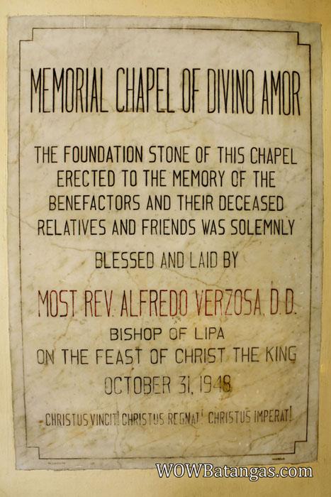 divino amor chapel redemptorist lipa