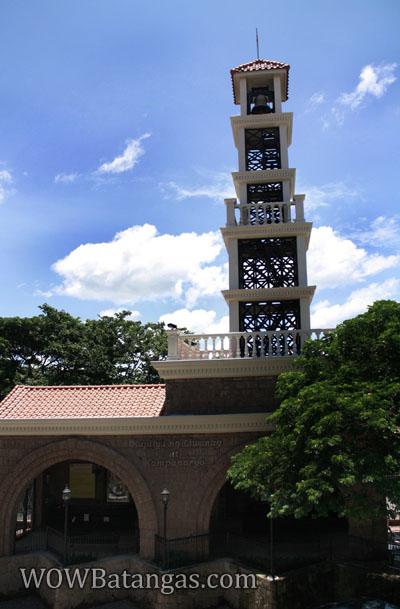 bellfry at santissima trinidad church batangas city