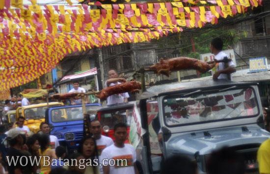 parada ng lechon or the roasted pig parade