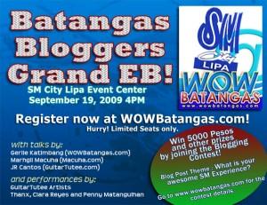 Batangas Bloggers Grand EB Event at SM Lipa by WOWBatangas.com