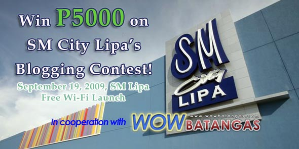SM Lipa Blogging Contest in cooperation with WOWBatangas.com