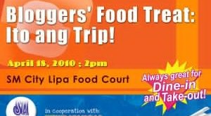 "JOIN na sa SM City Lipa's ""Bloggers' Food Treat: Ito ang Trip!"""