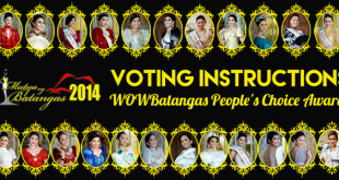 Mutya ng Batangas 2014 – Voting Instructions for WOWBatangas People's Choice Award