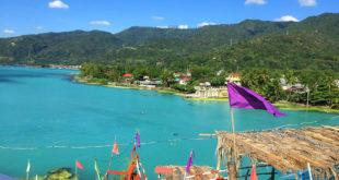 Sulfur Upwelling sa Taal Lake, Batangas