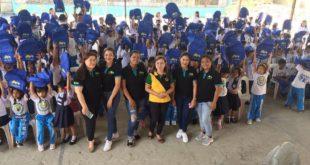 Italpinas donates 300 school bags to students of Sta. Anastacia Elementary School, Sto Tomas, Batangas