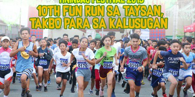 Takbuhan sa Tindagan!  Tinindag Festival 2019 Fun Run