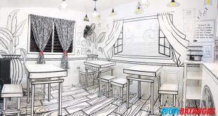 Comic Book inspired na mural sa isang restaurant sa Malvar, Batangas, obra ng isang labingpitong taong gulang na Batangueño