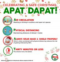Celebrating a Safe Christmas using Apat dapat